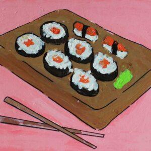 Card - Pink Sushi - Hannah O