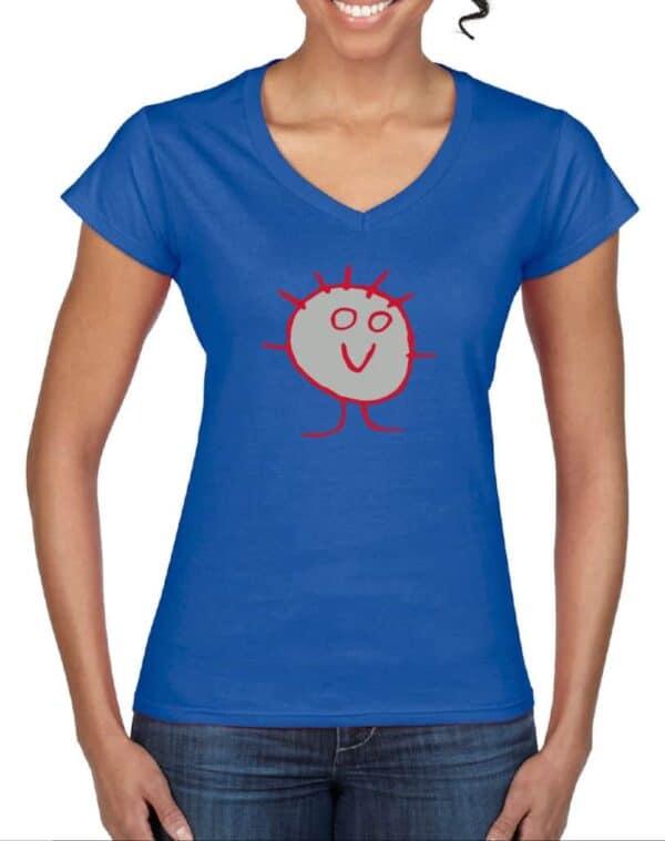 Blue Face Women T-shirt
