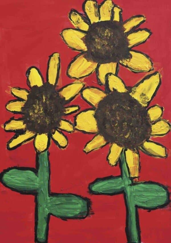 Greeting Card - Sunflowers - AF