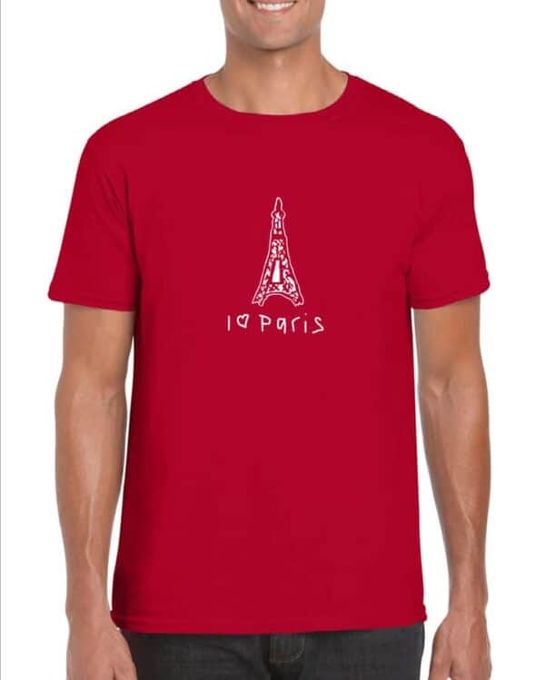 Red I Love Paris Unisex T-shirt